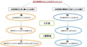 千葉県でめまい、耳鳴り、吐き気に悩む高校生が通う整体での自律神経とストレスの関係イラスト